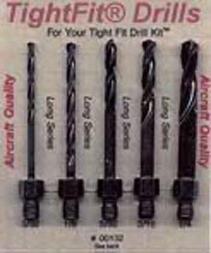 Drill Bits Short Length Threaded Shank Long Series Drill Bit Set 2 Tight Fit Tools 00132