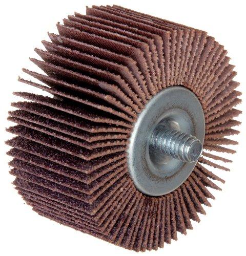 Merit High Performance Quick-Change Mini Grind-O-Flex Abrasive Flap Wheel Threaded Shank Ceramic Aluminum Oxide 2 Dia 34 Face Width Grit 180 25000 Max RPM Pack of 10