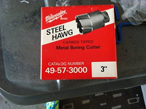 Milwaukee 49-57-3000 Steel Hawg 3-Inch Diameter 2-Inch Depth Threaded Shank Annular Cutter