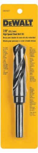 DEWALT DW1627 78-Inch Black Oxide 12-Inch Reduced Shank Twist Drill Bit