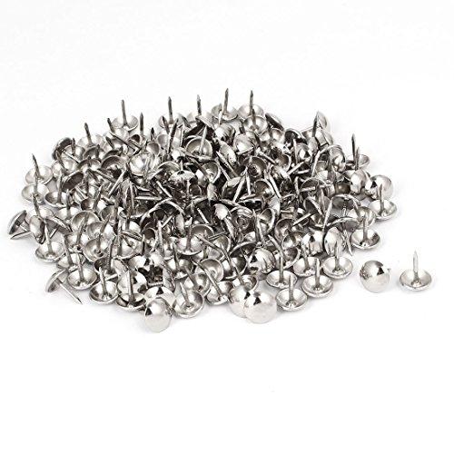 uxcell 10mm Head Dia 13mm Height Upholstery Nail Thumb Tacks Push Pin Silver Tone 200pcs