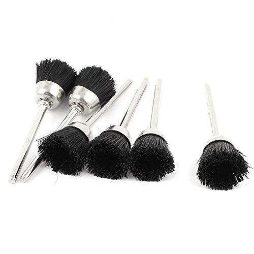 6 Pcs 15mm Dia Black Nylon Cup Brush Polishing Wheel for Rotary Tool