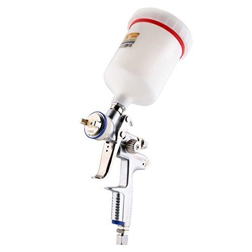 FUJIWARA Spray Gun with 600cc nylon Cup Silver Nozzle Size 13mm