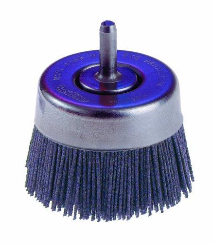 Osborn 32146 Round Trim Abrasive Nylon Cup Brush with Reduced Flare Silicon Carbide Bristle 5000 RPM 2-12 Diameter 80 Grit