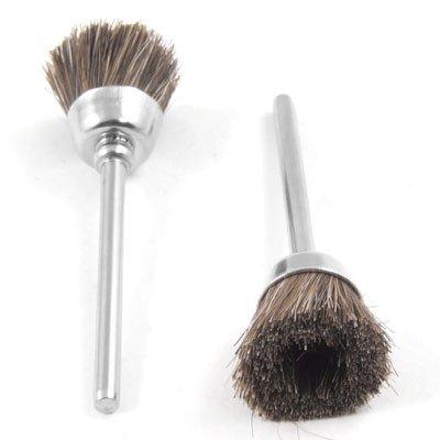 uxcell 5 Pcs Brown Soft Nylon Cup Brush Polishing Buffing Polisher Tool