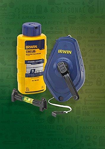 Irwin 64494lp Fast Speed Chalkline w Blue Chalk and Line Level Set