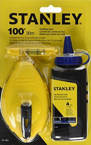 Stanley 47-443 3 Piece Chalk Box Set - 4-Ounce bottle Blue Stanley Chalk Plastic Line Level