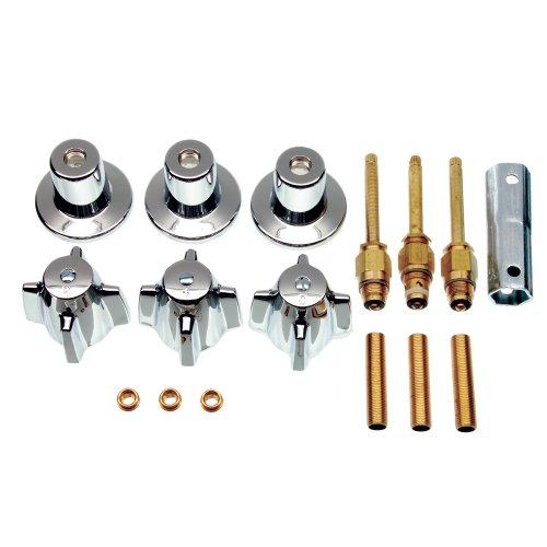 Danco 39616 3-Handle TubShower Trim Kit for Central Brass Chrome