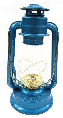Dietz 80 Blizzard Brass Trim Oil Lantern Blue