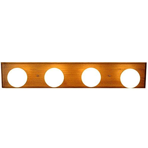 Monument 671608  Vanity Lighting Strip Oak With Polished Brass Trim 24 In