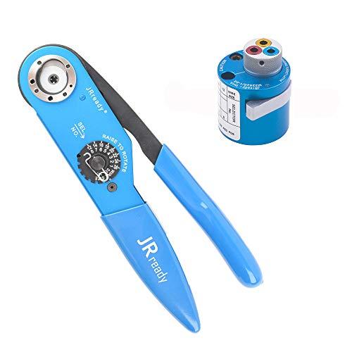 Hand Crimp Tool Kit YJQ-W2AAF8 Crimp ToolM225201-01TH1AM225201-02 Turret Head 12-26AWG by PRECISETOOL