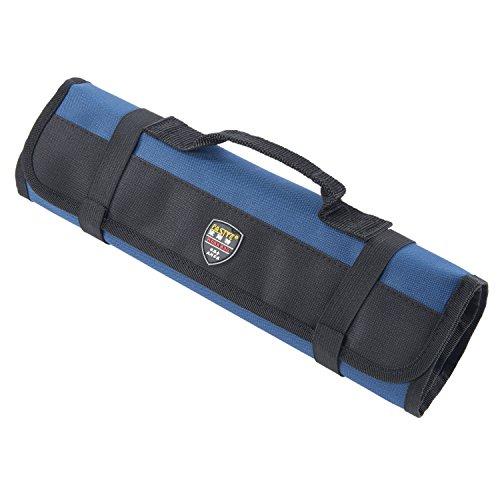 Joyutoy Rolling Tool Bag Work Gear Large Wrench Roll Blue