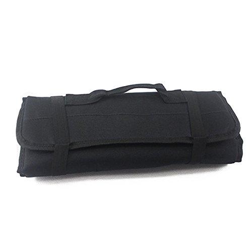 WINOMO Multi-Purpose Reel Rolling Tool Bag Plier Screwdriver Spanner Carry Case Pouch Bag Black