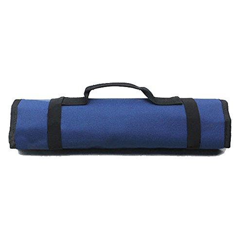 WINOMO Multi-Purpose Reel Rolling Tool Bag Plier Screwdriver Spanner Carry Case Pouch Bag Blue