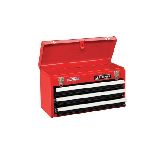 Craftsman CMST22036RB 20 3-Drawer Metal Tool Box with Ball-Bearing Drawers