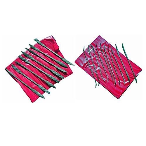 Bundle - Rasps Files for wood and more 8-Piece Heavy Wood Rasp Riffler File Set 10-Piece Riffler Needle File Set