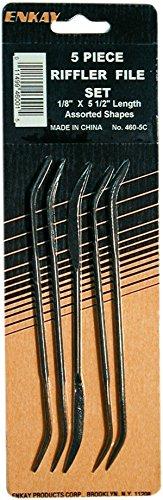 Enkay 460-5C Riffler File Set Carded 5-Piece