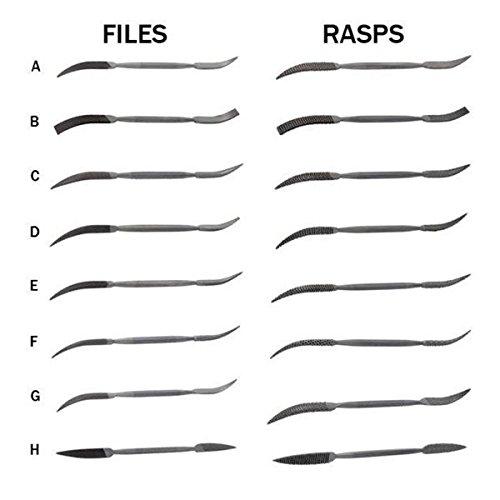 Riffler Files Rasps Complete Set of 16
