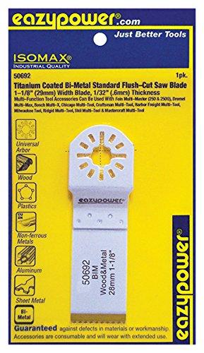Eazy Power 50692 Oscillating Titanium Coated Bi-Metal Flush Cut Saw Blade 1-18