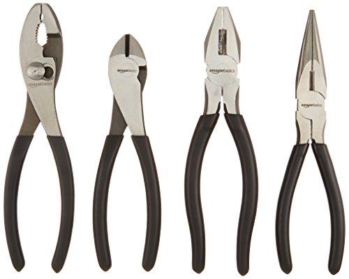 AmazonBasics Tools 4-Piece Pliers Set