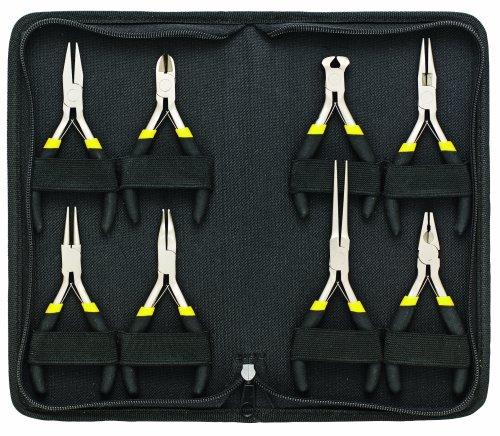 General Tools 938 Technicians Mini Plier Set 8-Piece