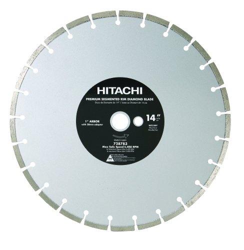 Hitachi 728783 14-Inch Dry Cut Segmented Rim Diamond Saw Blade for Concrete and Masonry