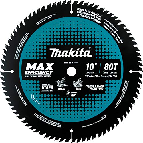 Makita B-66977 10 80T Carbide-Tipped Max Efficiency Miter Saw Blade