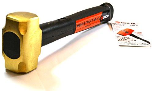 Groz Industrial Series - Indestructible Handle Brass Head Club Hammer 25lbs Head 12 Handle with