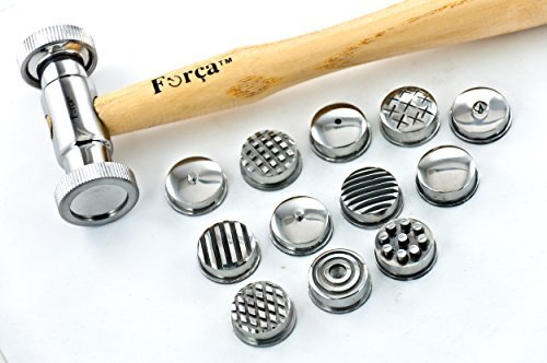 Forca RTG-1923 Texturing Hammer Set with 12 Pattern Heads